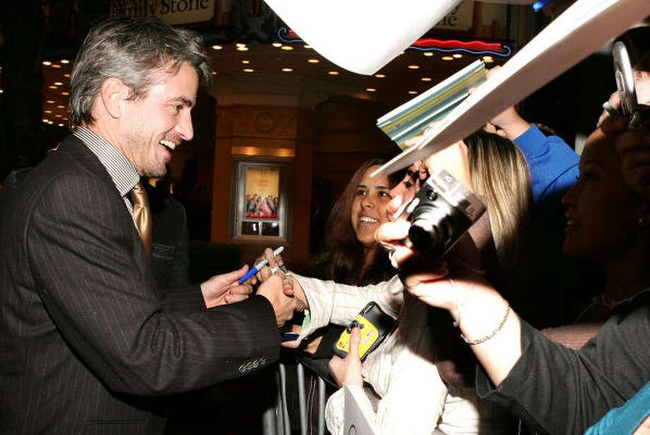 Dermot Mulroney signs autographs for fans. Photo: Frazer Harrison, Getty Images
