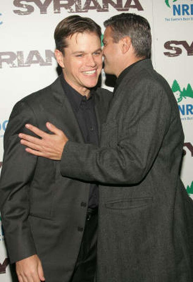 Actors Matt Damon, left, and George Clooney Photo: Evan Agostini, Getty Images