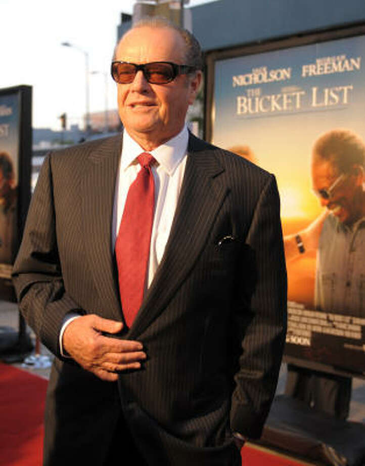 Jack Nicholson Photo: GABRIEL BOUYS, AFP/Getty Images