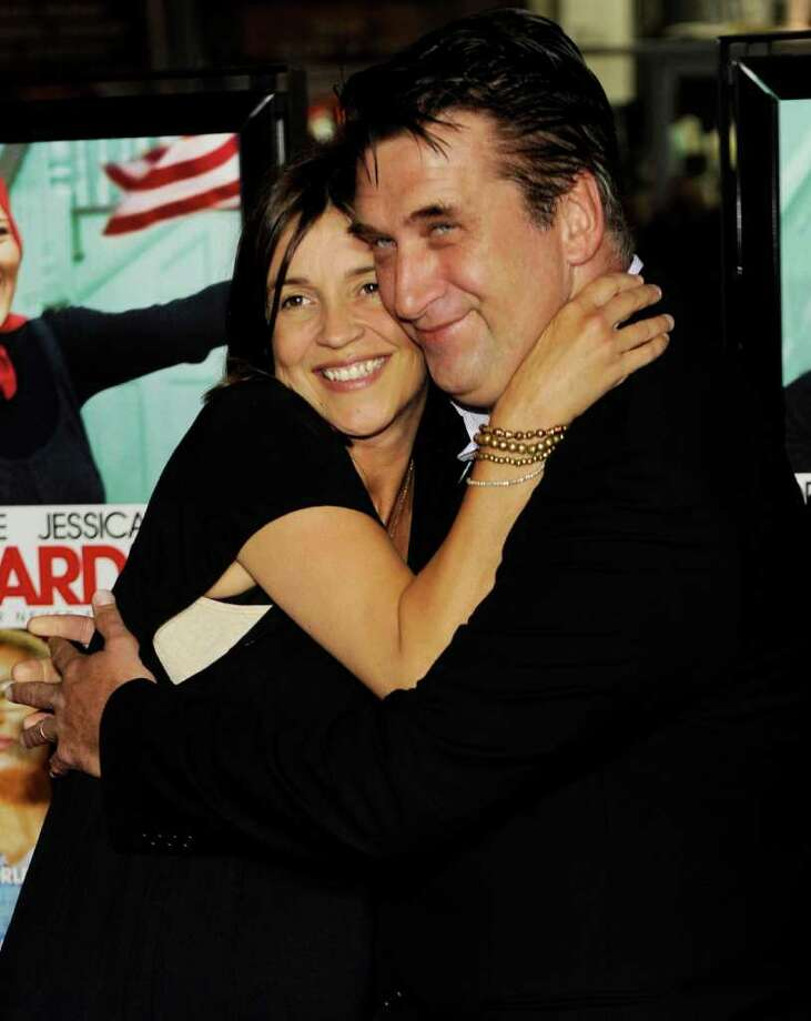 """FILE - In this April 16, 2009 file photo, actor Daniel Baldwin, a cast member in """"Grey Gardens,"""" poses with his wife Joanne at the premiere of the HBO film in Los Angeles. Joanne Baldwin told The Oregonian on Friday Aug. 12, 2011 that """"we have a lot of work to do in our marriage and a lot of healing to do."""" Daniel Baldwin filed for divorce last month and was granted a restraining order against his 41-year-old wife. The couple married in July 2007. (AP Photo/Chris Pizzello, file) Photo: Chris Pizzello"""