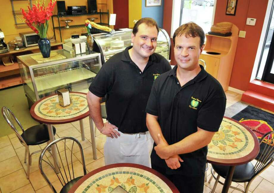 Crestwood Deli co-owners Danny Urschel, left, and Chris Himes in their Albany deli Wednesday Aug. 3, 2011.   (John Carl D'Annibale / Times Union) Photo: John Carl D'Annibale / 00014131A