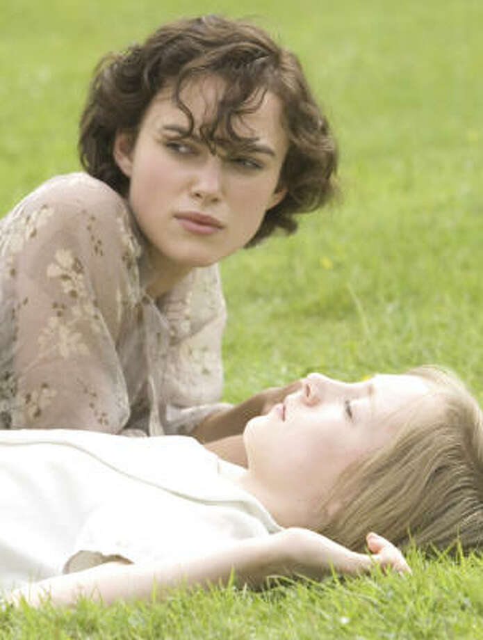 Keira Knightley stars as older sister Cecilia and Saoirse Ronan as Briony in a romance based on Ian McEwan's award-winning best-selling novel, Atonement. Photo: Focus Features