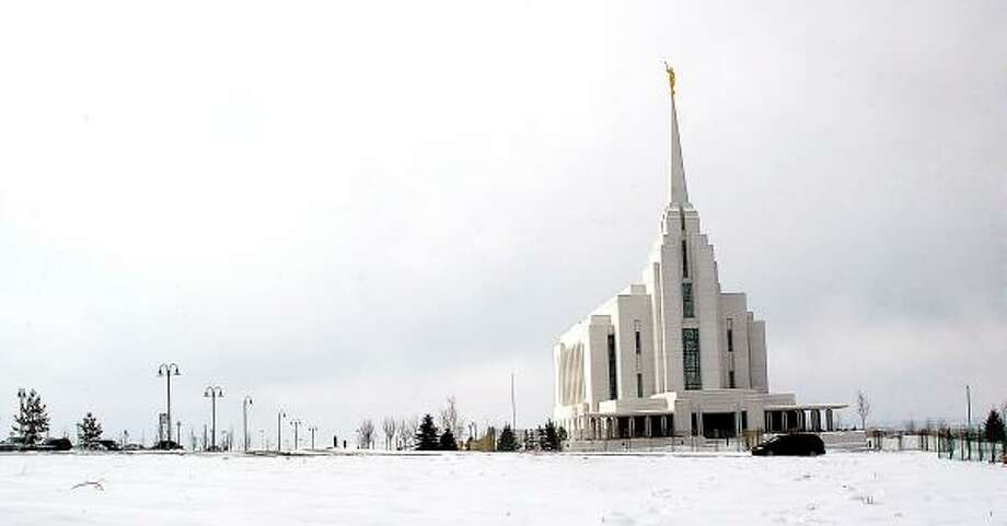 The recently completed Mormon Temple in Rexburg, Idaho, has inspired pride and high home values for the residents of this town, 92 percent of whom are Mormon. Photo: AMANDA SMITH, ASSOCIATED PRESS