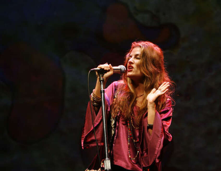 Katrina Chester is one of the actors who portray Janis Joplin in the Alley Theatre's production of the musical Love, Janis. Photo: James Nielsen, Houston Chronicle