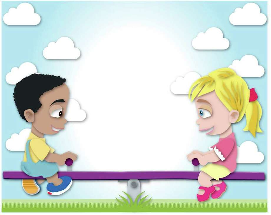 Teaching kids balance - illustration of two children on a seesaw Photo: Ken Ellis