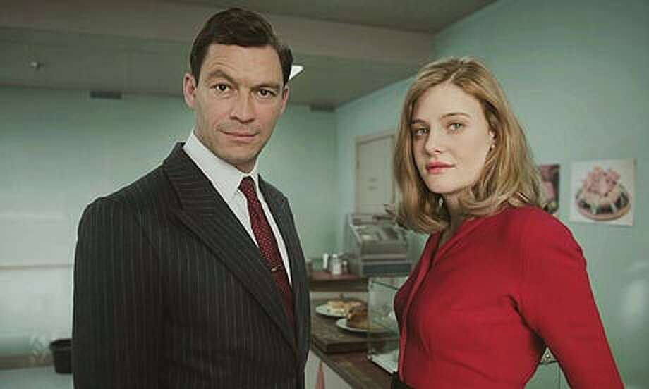 "TV anchor Dominic West (Hector Madden) and Bel Rowley (Romola Garai), the producer of the current-affairs show, form a workplace bond in ""The Hour."" KUDOS FILM & TELEVISION LTD"