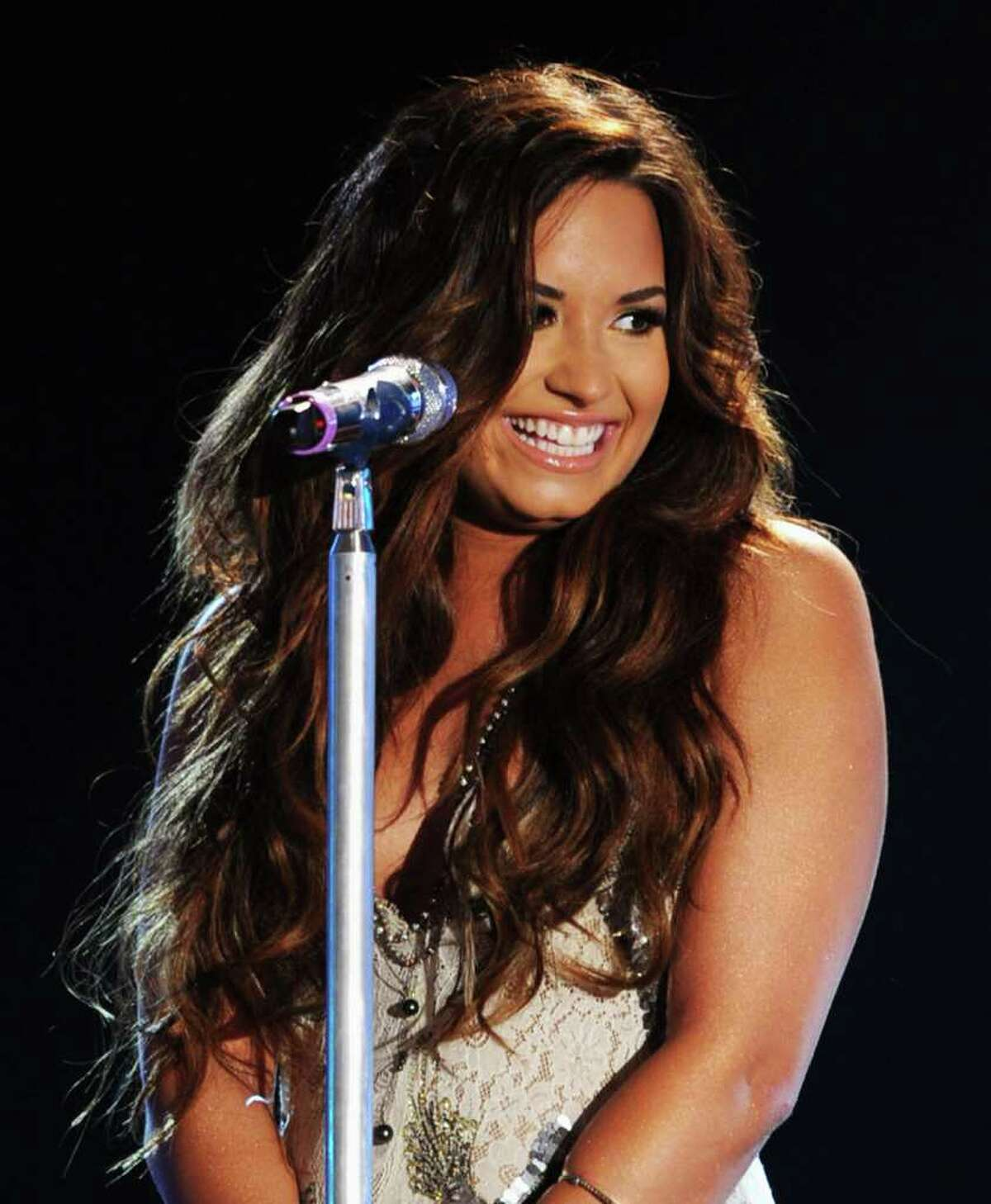 Singer Demi Lovato perform onstage during the 2011 VH1 Do Something Awards at the Hollywood Palladium in Hollywood, California.