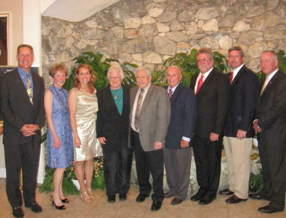 The Sportsmen of Westport's honorees for 2011 are, from left, Mark Brockwell, Mary Gail Horelick-Gristina, Nikki Zeoli-Porzio, Nell Mullen, Jay Paretzky, Carmen Arciola, Steve Doig, Jack McFarland and Al Fiore. Photo: Contributed Photo