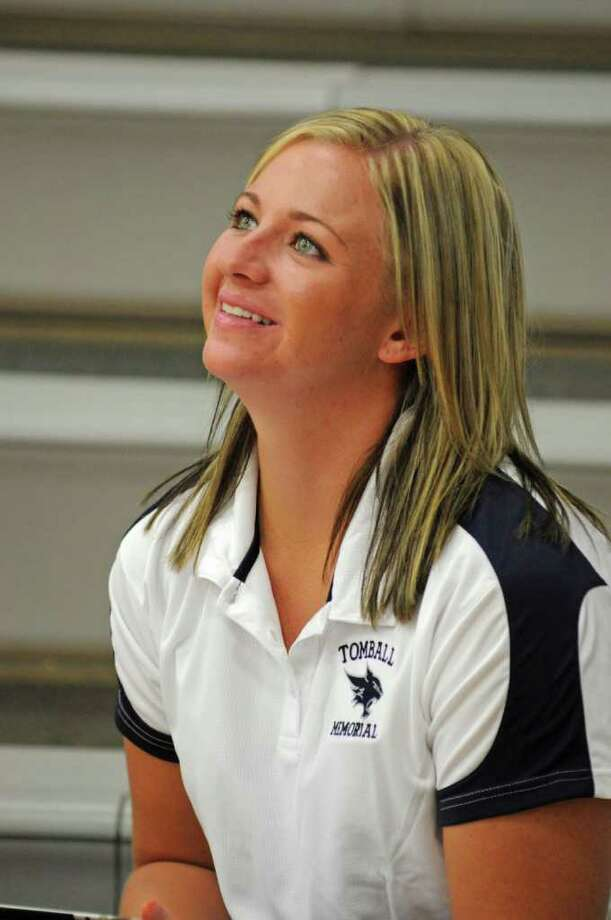Tomball Memorial volleyball coach Morgan Rogers during a scrimmage at Klein Collins on 8-5-11. The Lady Wildcats are in their first varsity season and playing with only sophomores and freshmen. Photo: L. Scott Hainline / freelance