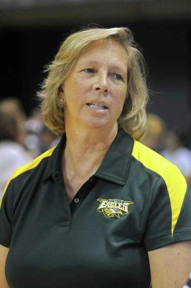 Cy-Falls head volleyball coach Kathy Stephenson.... Photo: Jerry Baker, Freelance / Freelance