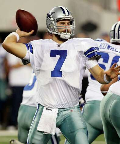 Dallas Cowboys quarterback Stephen McGee looks to pass against the Denver Broncos during a preseason NFL football game Thursday, Aug. 11, 2011, in Arlington. Photo: L.M. Otero/Associated Press