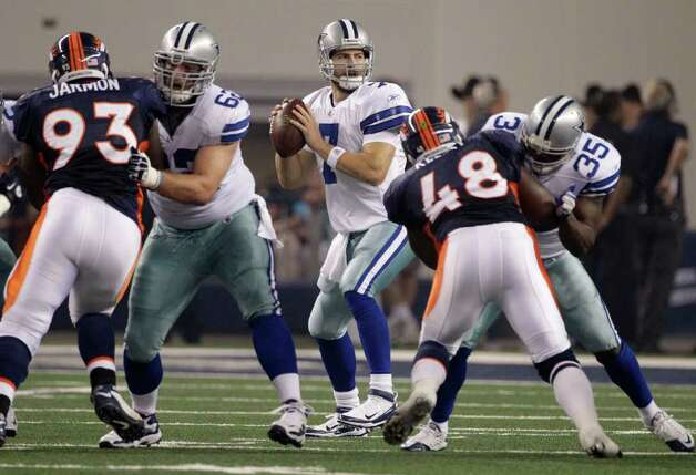 Dallas Cowboys quarterback Stephen McGee (7) in the pocket during a preseason NFL football game against the Denver Broncos Thursday, Aug. 11, 2011, in Arlington. The Cowboys won 24-23. Photo: Tony Gutierrez/Associated Press