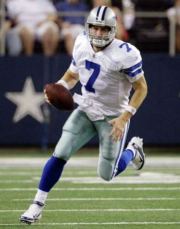 Dallas Cowboys quarterback Stephen McGee runs the ball against the Denver Broncos during a preseason NFL football game Thursday, Aug. 11, 2011, in Arlington. Photo: Tony Gutierrez/Associated Press