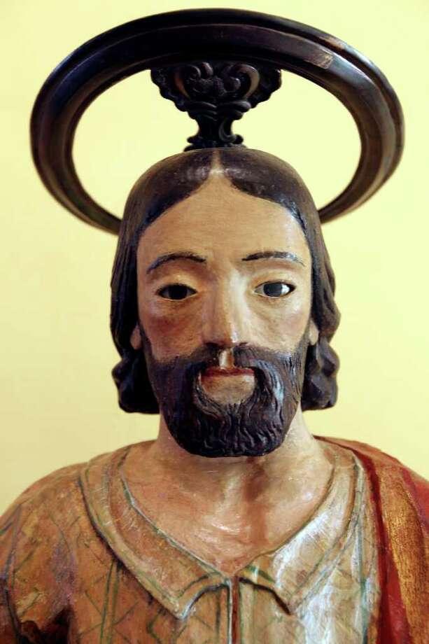 Detail of the Saint Joseph statue displayed in the retablo at Mission San José Aug. 15, 2011. Photo: EDWARD A. ORNELAS, Edward A. Ornelas/Express-News / © SAN ANTONIO EXPRESS-NEWS (NFS)