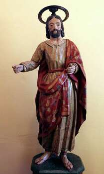 A statue of Saint Joseph is displayed in the retablo at Mission San José Aug. 15, 2011. Photo: EDWARD A. ORNELAS, Edward A. Ornelas/Express-News / © SAN ANTONIO EXPRESS-NEWS (NFS)