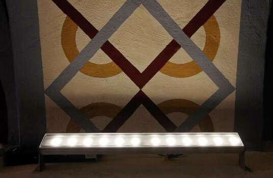 The LED lighting inside the Mission San José church Aug. 15, 2011. Photo: EDWARD A. ORNELAS, Edward A. Ornelas/Express-News / © SAN ANTONIO EXPRESS-NEWS (NFS)