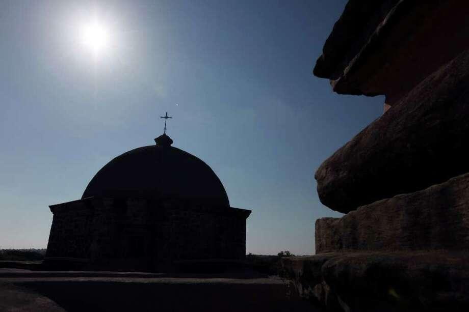 A view from the Mission San José bell tower Aug. 15, 2011. Photo: EDWARD A. ORNELAS, Edward A. Ornelas/Express-News / © SAN ANTONIO EXPRESS-NEWS (NFS)