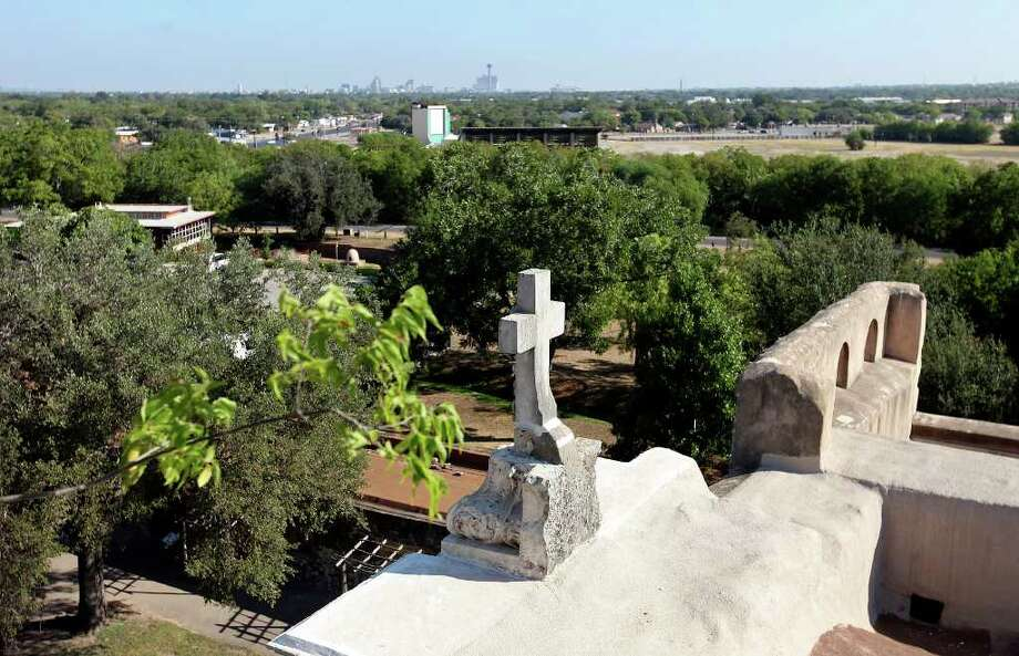A view from the Mission San José bell tower Aug. 15, 2011. Photo: EDWARD A. ORNELAS, Edward A. Ornelas/Express-News / © SAN ANTONIO EXPRESS-NEWS (NFS)