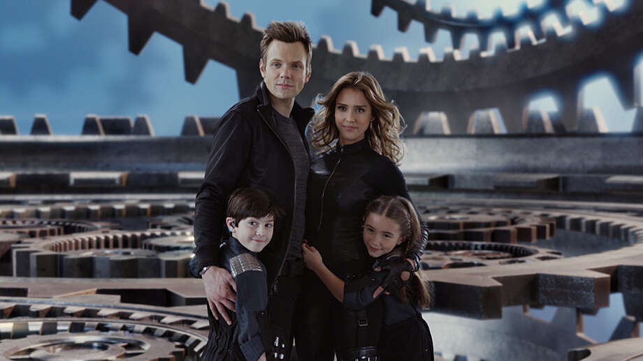 "Joel McHale, Jessica Alba, Mason Cook and Rowan Blanchard co-star in ""Spy Kids: All the Time in the World in 4D."" Photo: Courtesy Photo"