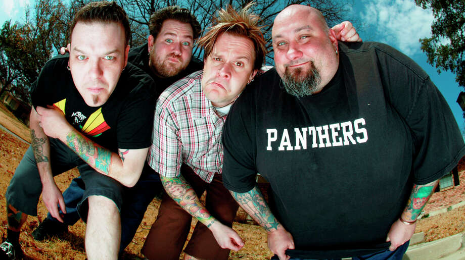 Bowling For Soup includes Erik Chandler (from left), Gary Wiseman, Jaret Reddick and Chris Burney. COURTESY SECRET SERVICE PUBLICITY