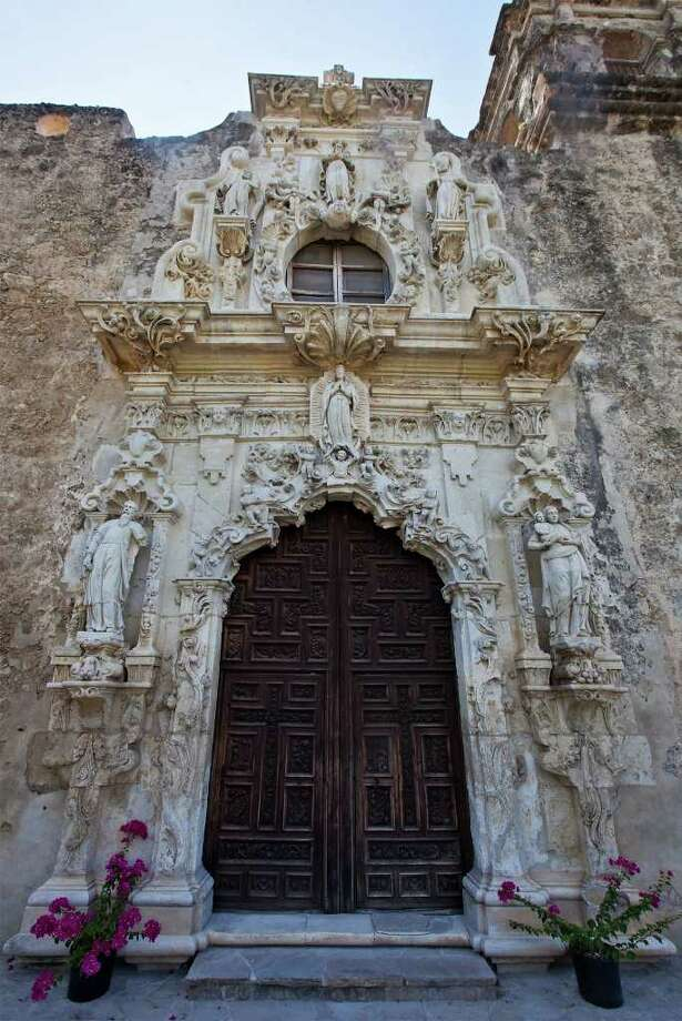 The entrance to the church at Mission San José on Aug. 14, 2011.  Photo: Marvin Pfeiffer/Prime Time Newspapers