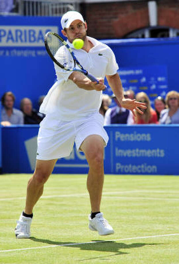 Andy Roddick has been a Wimbledon finalist three times, and two years ago he was a heartbroken 16-14 fifth-set loser to Roger Federer. Photo: GLYN KIRK, Getty