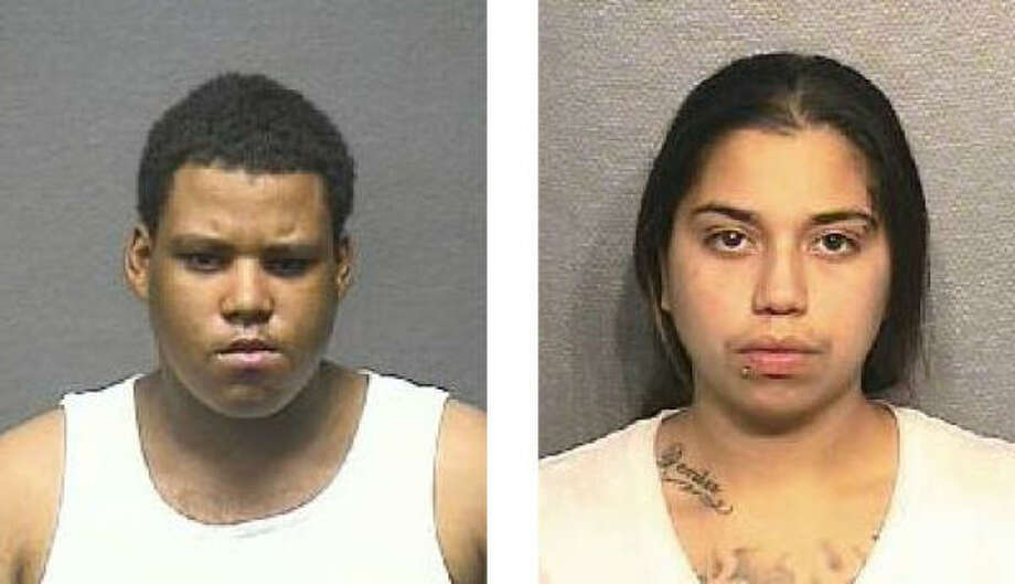 Houston police say the two suspects were arrested on Saturday. Quentin Pierre Mason is to the left of Amanda Salinas. Photo: HPD