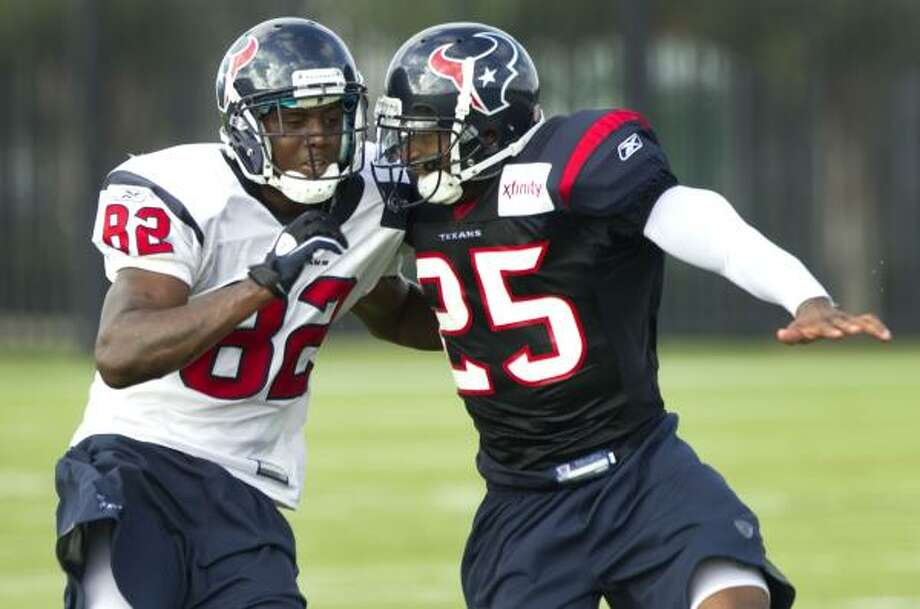 The Texans look for improvements from cornerback Kareem Jackson after a rough rookie season. Photo: Brett Coomer, Chronicle