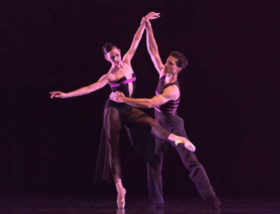 Houston Ballet's Danielle Rowe and Simon Ball in a scene from Christopher Wheeldon's Rush. Photo: Amitava Sarkar