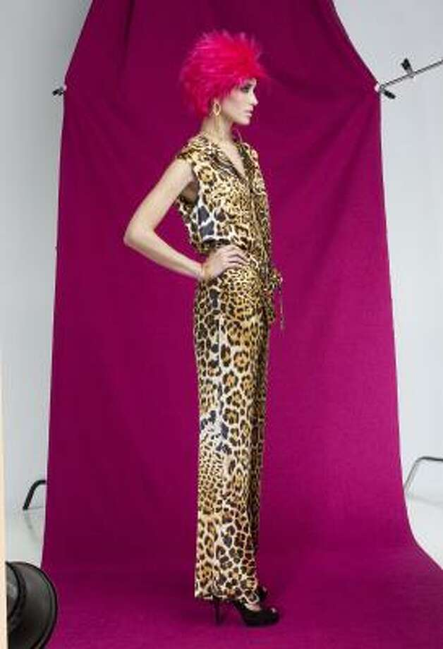 A slinky YSL silk jumpsuit from Neiman Marcus. Photo: Michael Paulsen, Houston Chronicle