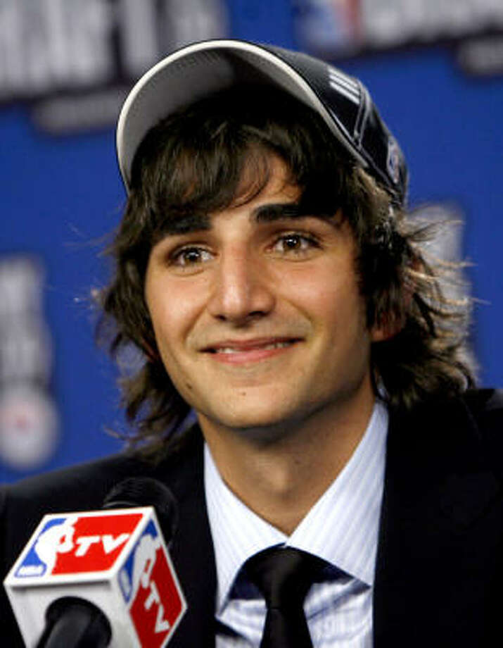Ricky Rubio, of Spain,was selected by the Minnesota Timberwolves as the fifth pick in the first round of the NBA basketball draft, in 2009. Photo: Jason DeCrow, AP