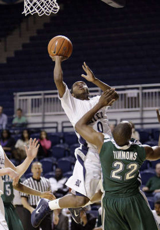 Rice's Trevan Abraham (0) made 11 starts as a freshman. Photo: Bob Levey, For The Chronicle