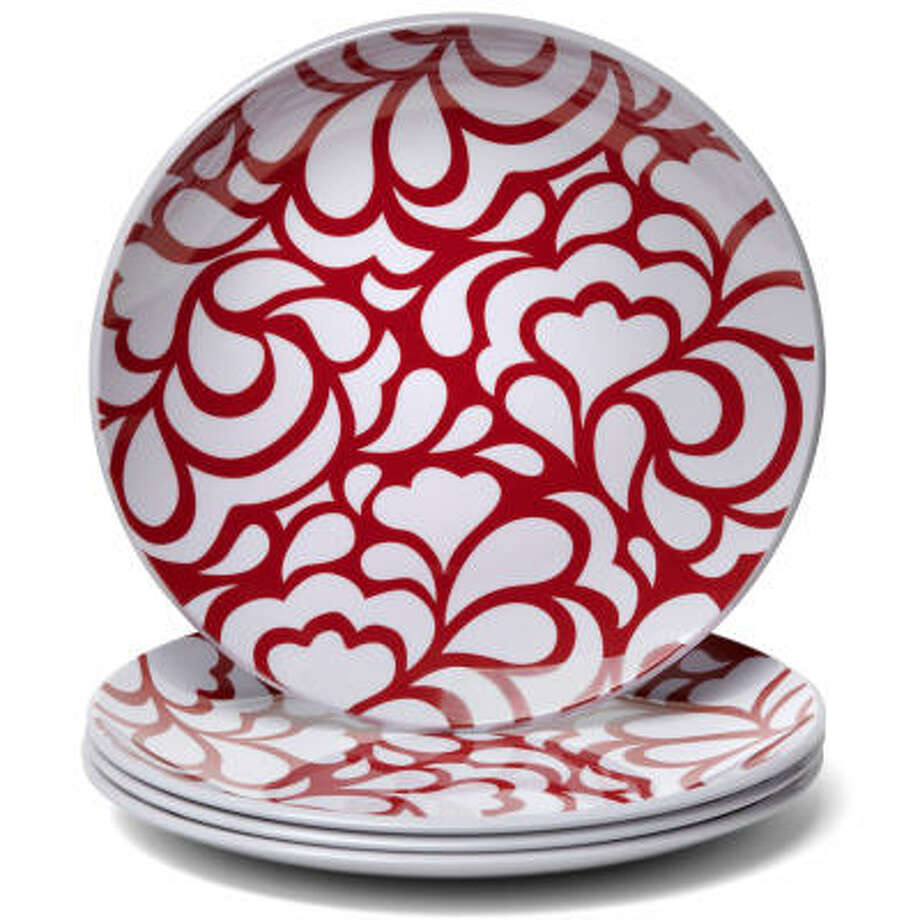 JCP Everyday Melamine Dinnerware Collection set of four salad Plates, $31.99 at JC Penny or www.jcpenny.com. Photo: JCPENNEY