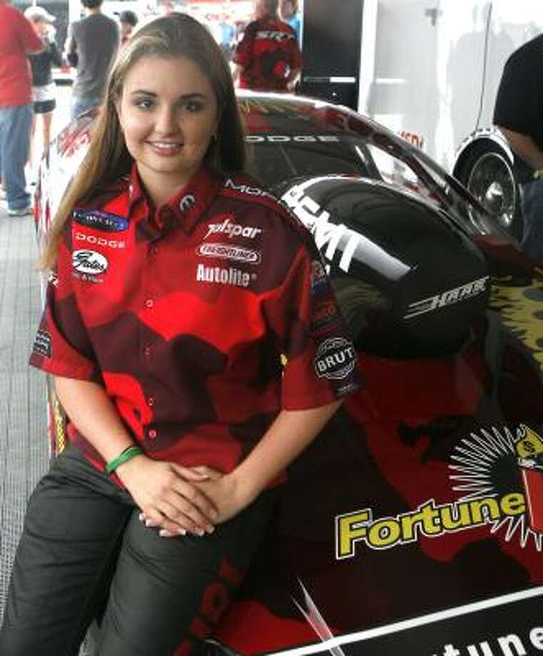 Erica Enders is trying to become the first woman to win a Pro Stock event in the 41-year history of the hot rod category. Photo: Chronicle File