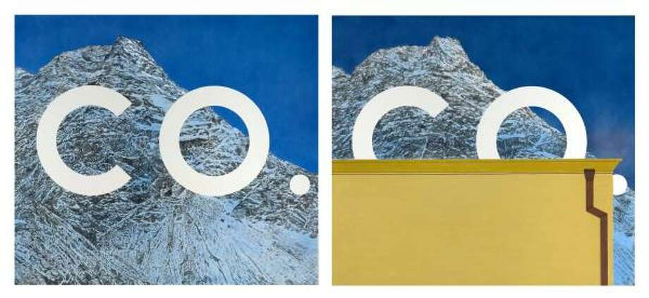 Untitled #1 and Untitled #2 (2007-2008): Also included are these two paintings from Ed Ruscha. Photo: Ed Ruscha: Courtesy Gagosian Gal