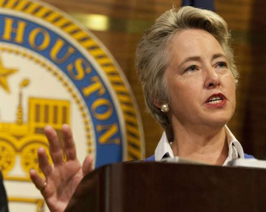 Mayor Annise Parker's critics say there is a believability disconnect between the people and City Hall. Photo: Nick De La Torre, Chronicle