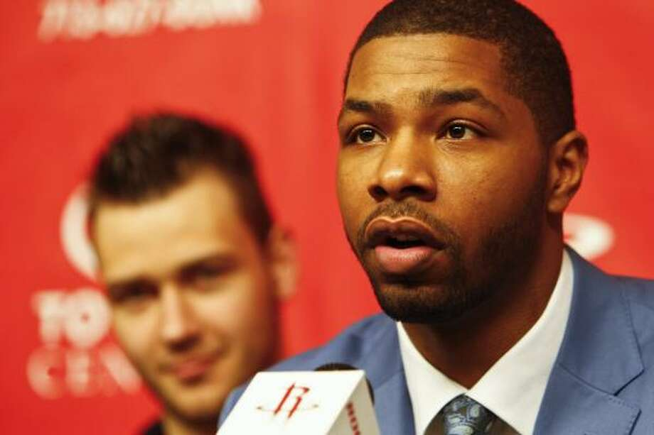 The agent for Rockets first-round pick Marcus Morris has sought overseas offers for his clients. Photo: Michael Paulsen, Chronicle