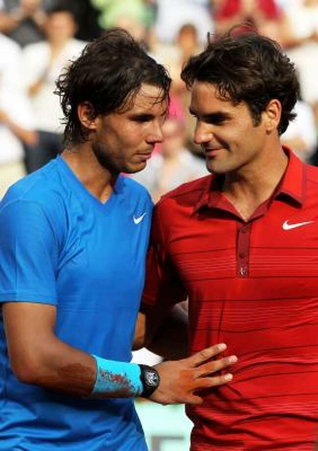 For years, Rafael Nadal, left, and Roger Federer were the men to beat at major tournaments. They are not alone anymore. Photo: Matthew Stockman, Getty
