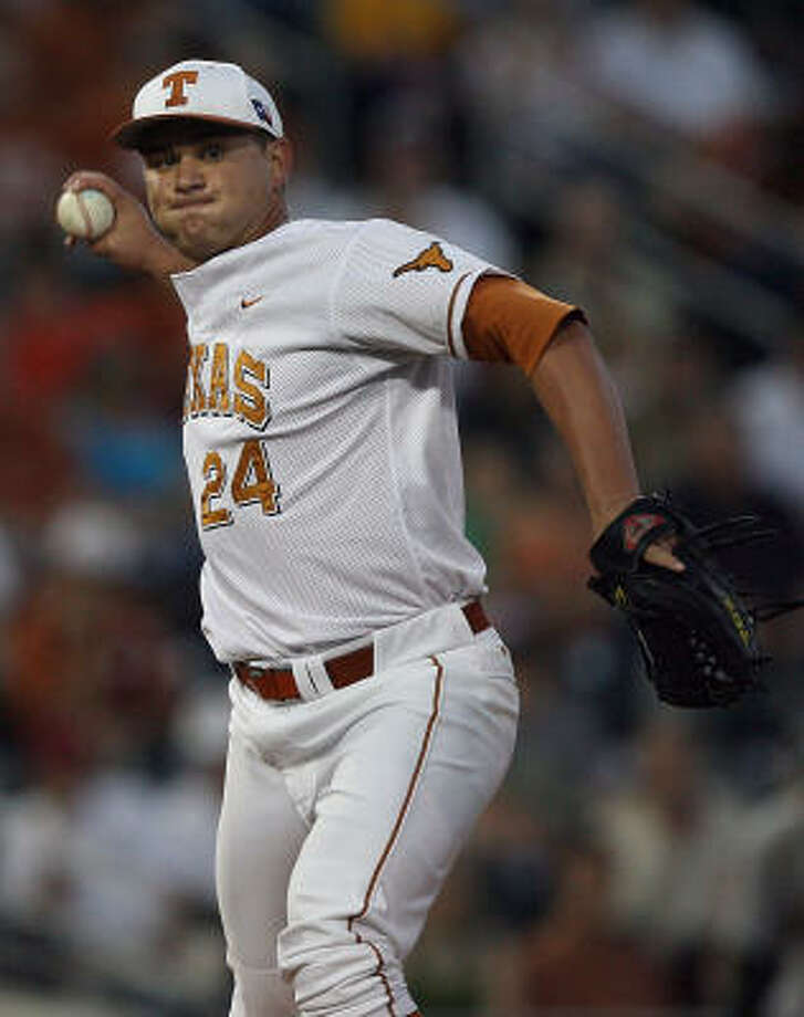 Senior Cole Green is expected to take the hill today for the Longhorns. Photo: RODOLFO GONZALEZ, AUSTIN AMERICAN-STATESMAN