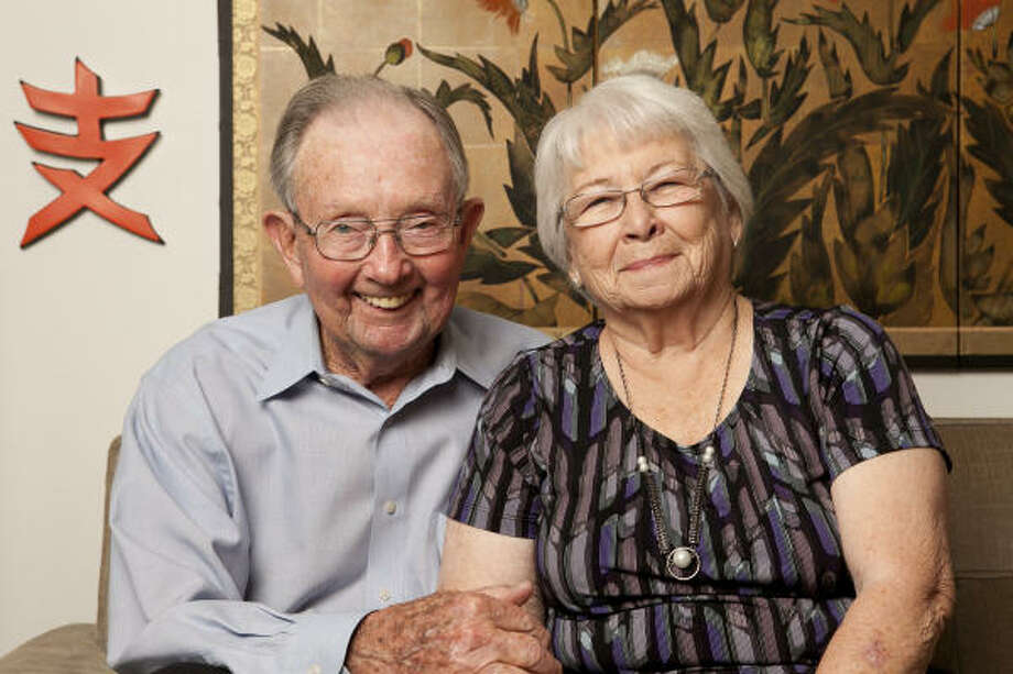 Bill and Iris Thorne have been married for 69 years. The two started dating in the seventh grade. Photo: Nathan Lindstrom