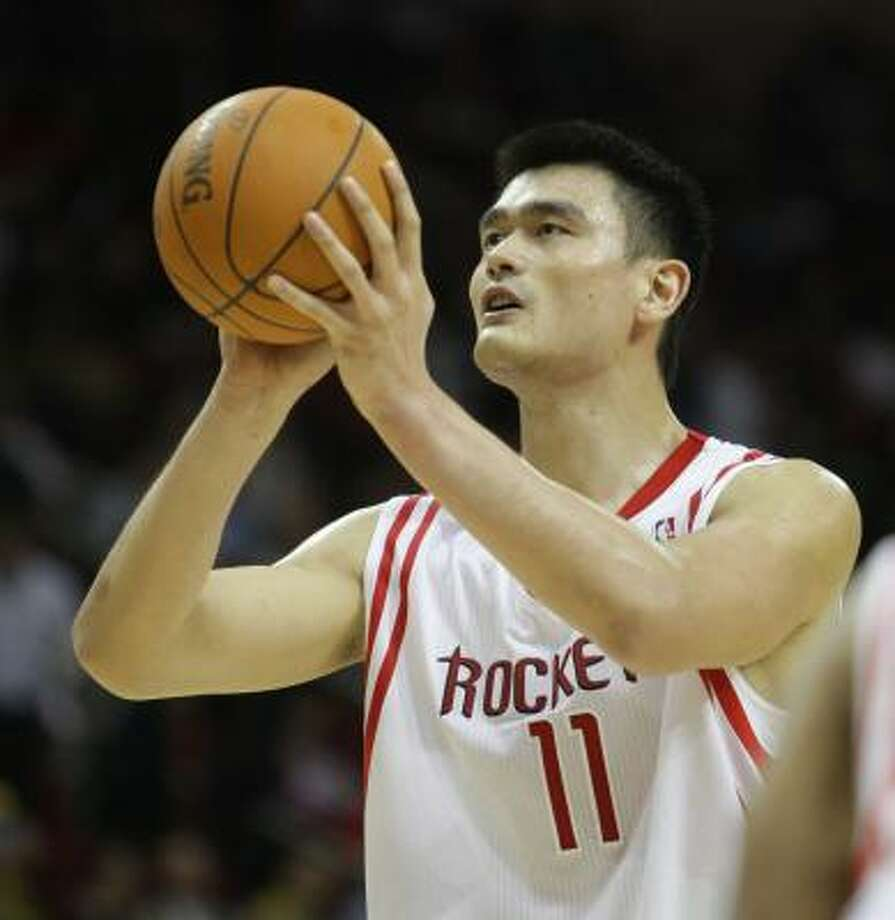 Yao Ming played eight seasons in the NBA, all with the Rockets. Photo: Karen Warren, Chronicle