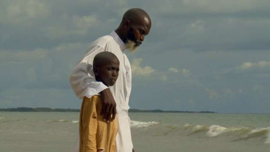Djamil Djieng, at left with his father, Nabiollah Saidov and Rifdha Rasheed are featured in the film. Photo: HBO