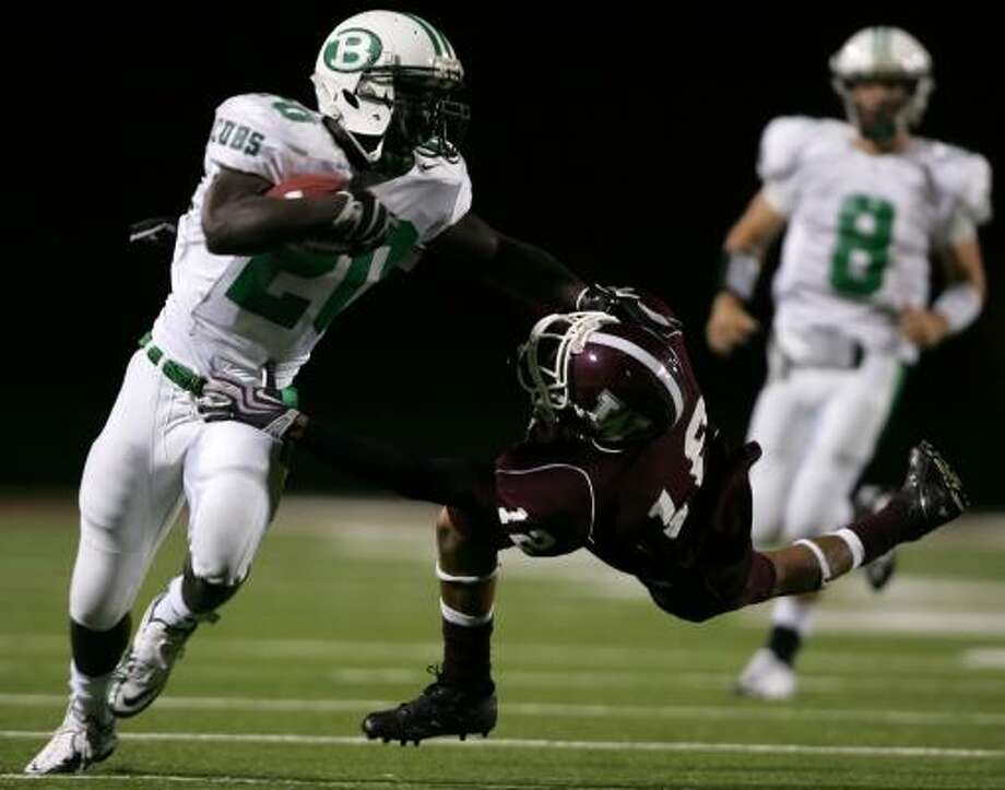 Brenham's Troy Green rushed for 1,155 yards and 17 touchdowns last season. Photo: ERIC CHRISTIAN SMITH, For The Chronicle