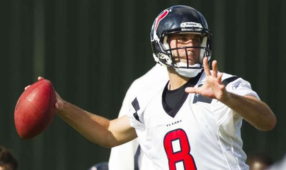 Quarterback Matt Schaub says the main goal of the offense is to be sharp in the preseason opener. Photo: Brett Coomer, Chronicle