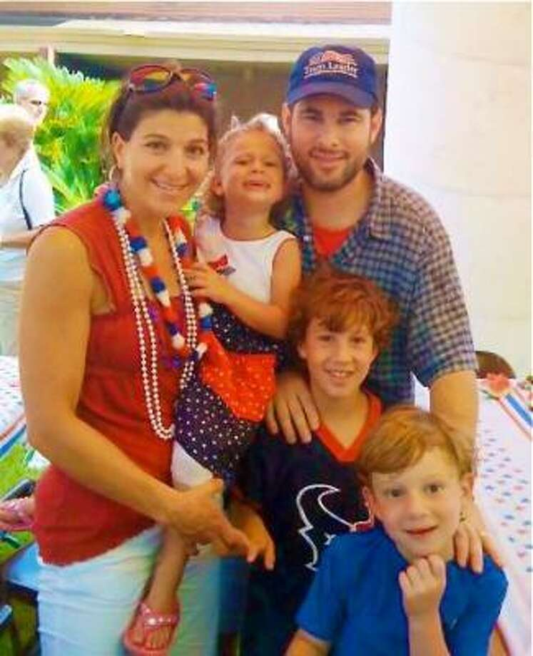 Robin and Joshua Berry with their children, Willa, Peter and Aaron. Robin and Joshua were killed in a car wreck. Photo: BERRY CHILDREN'S FUND