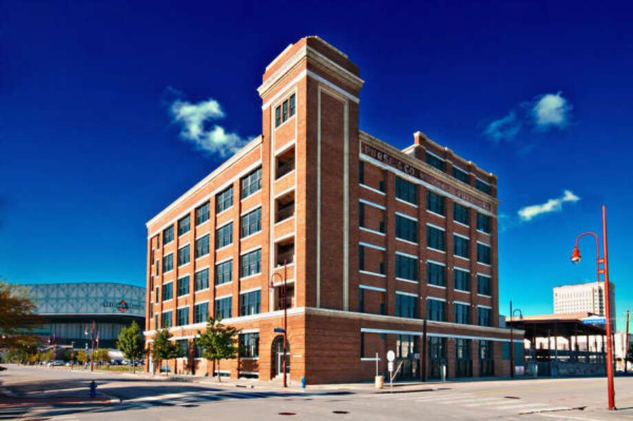 The five-story Nabisco cookie factory near Minute Maid Park contains 57 apartments. Among the features are vaulted ceilings and original maple floors. Photo: Keven Alvarado