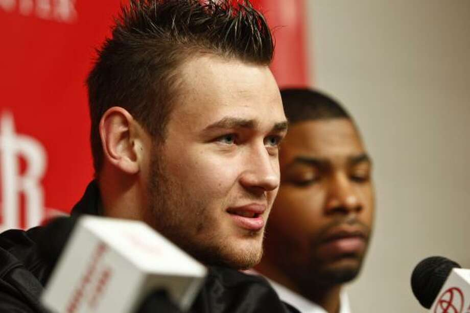 Donatas Motiejunas joined the Rockets in a draft-night deal with the Minnesota Timberwolves. Photo: Michael Paulsen, Chronicle
