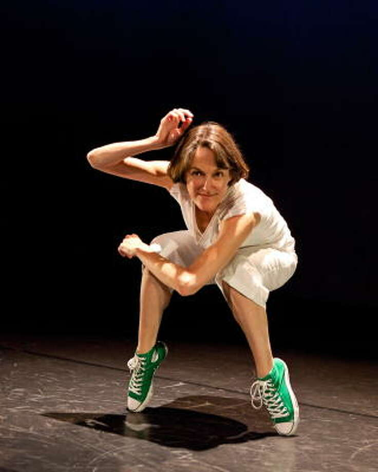 Karen Stokes often tries out movements on herself before teaching them to her company. Photo: Lynn Lane