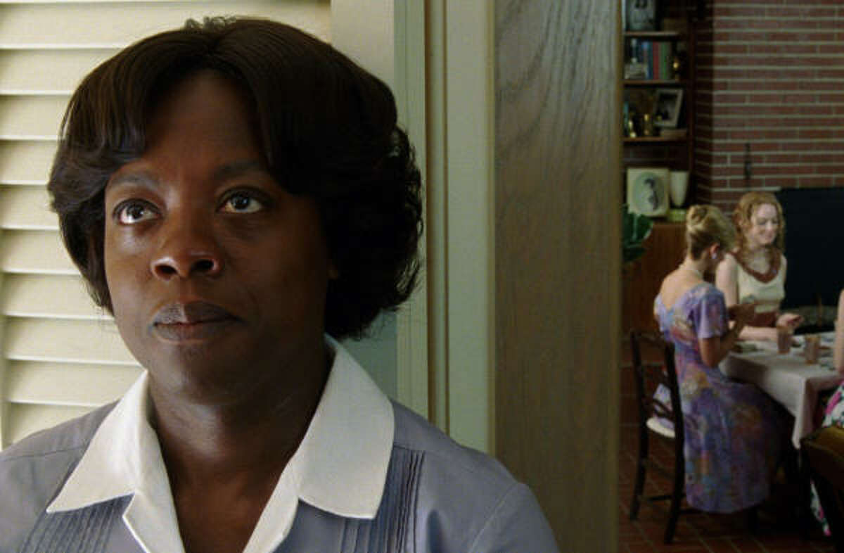 Aibileen Clark (Viola Davis stars as Aibileen Clark, a maid working for a white family in The Help.