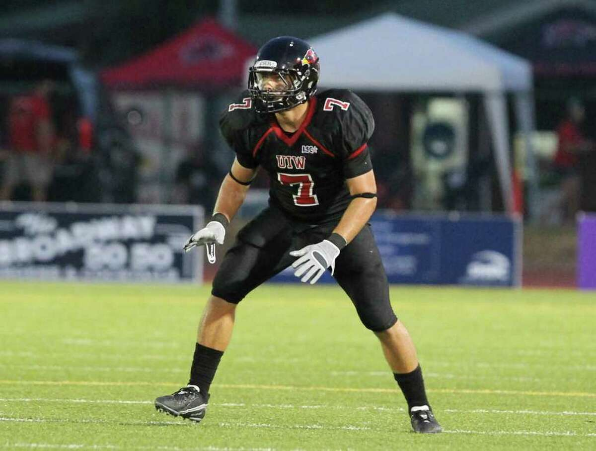 Chaz Pavliska of Floresville recorded his 200th career tackle during UIW's loss to Eastern New Mexico last week.
